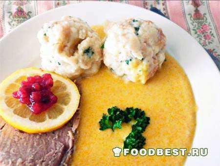 Свичкова на сметане - национальное чешское блюдо