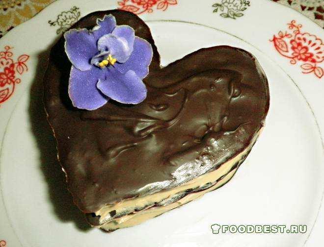 Десерт «Шоколадное сердце» ко Дню святого Валентина