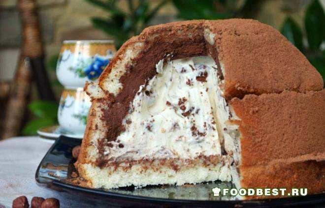 Холодный шоколадный торт Цукотто