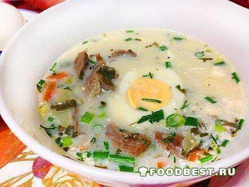 Весенний суп с зеленью - щавелем и крапивой