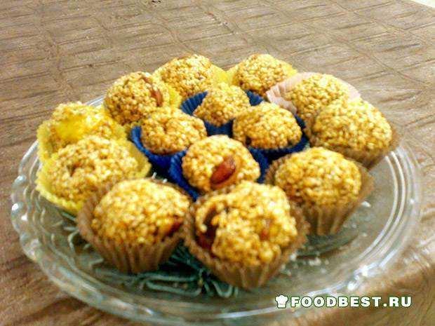 Сладкие козинаки - шарики с кунжутом «Симсомие»