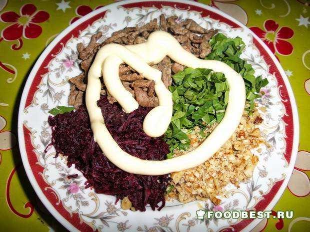 рецепт салата мясо со свеклой
