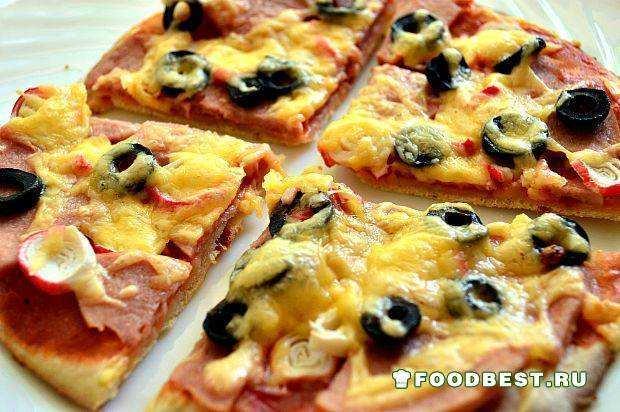 Пицца с крабовыми палочками в домашних условиях рецепт 95