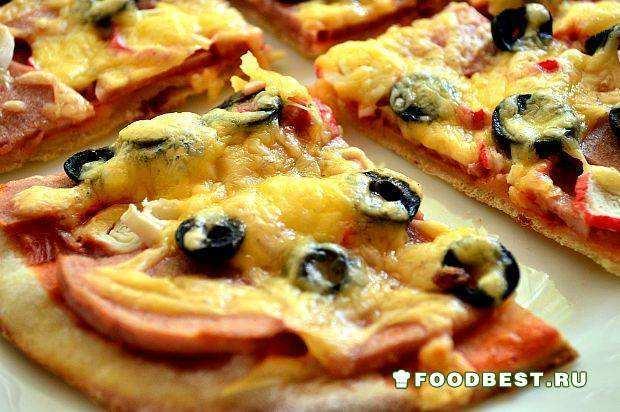 Пицца с крабовыми палочками в домашних условиях рецепт
