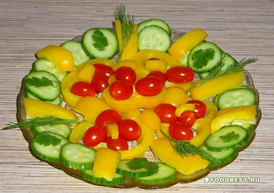 Как нарезать овощи на стол в домашних условиях фото