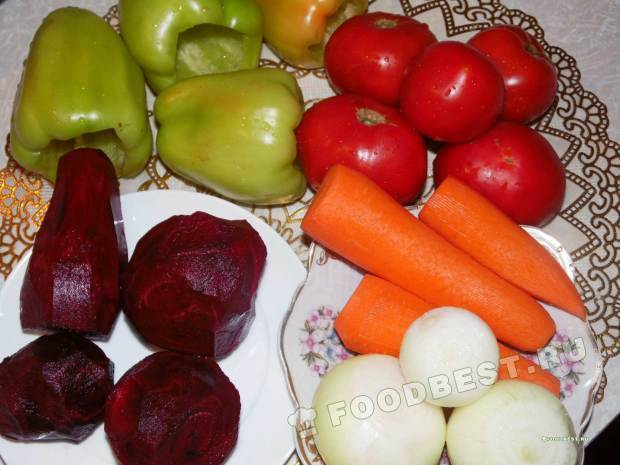 Ингредиенты для борща со свеклой