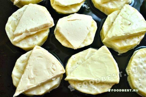 картофель в майонезе с сыром