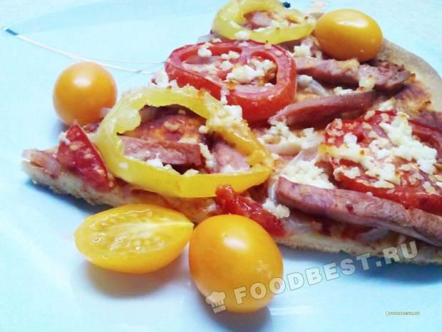 Домашняя пицца с творогом
