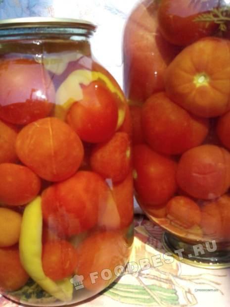Помидоры с зеленью моркови и сладким перцем