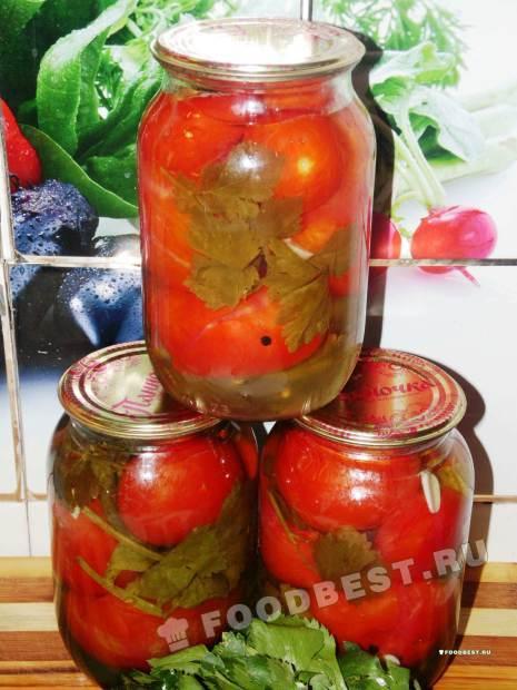 Рецепт кисло-сладких помидоров на зиму