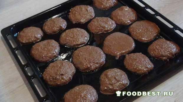 фото гречневого печенья перед выпеканием