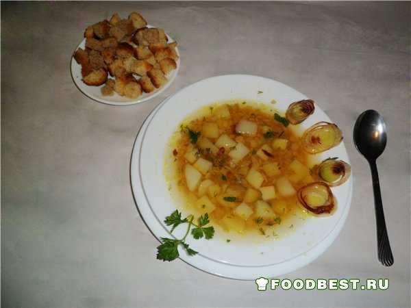 Подача горохового супа