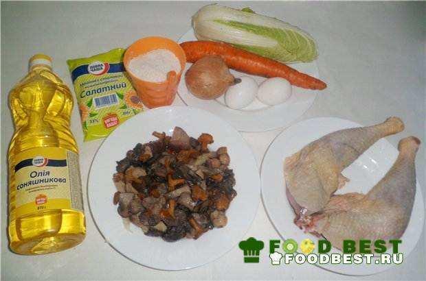 Ингредиенты для салата из курицы