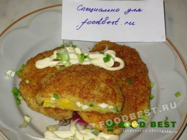 Картофельные зразы с вареным яйцом