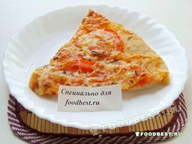 Быстрая пицца на тонком тесте в духовке