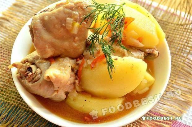 Куриный бозбаш по–азербайджанcки