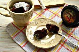 Шоколадный кекс-пятиминутка в кружке