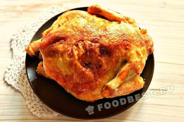 Цыпленок в соевом соусе с чесноком и имбирем