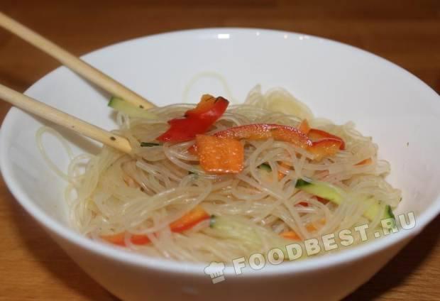 Фунчоза по корейски рецепт с и пошаговым приготовлением с курицей