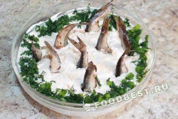 салат рыбки в пруду пошаговый рецепт