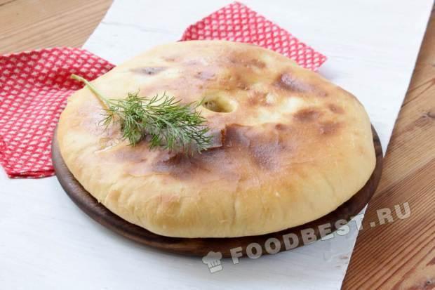 Осетинский пирог с зеленью рецепт пошагово