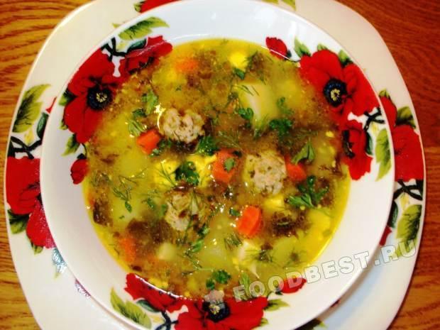 Суп из щавеля с яйцом и фрикадельками рецепт