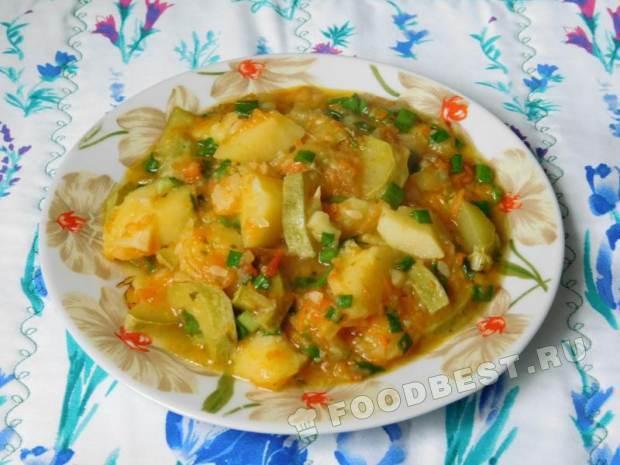 Кабачки тушеные с картошкой пошаговый рецепт с 135