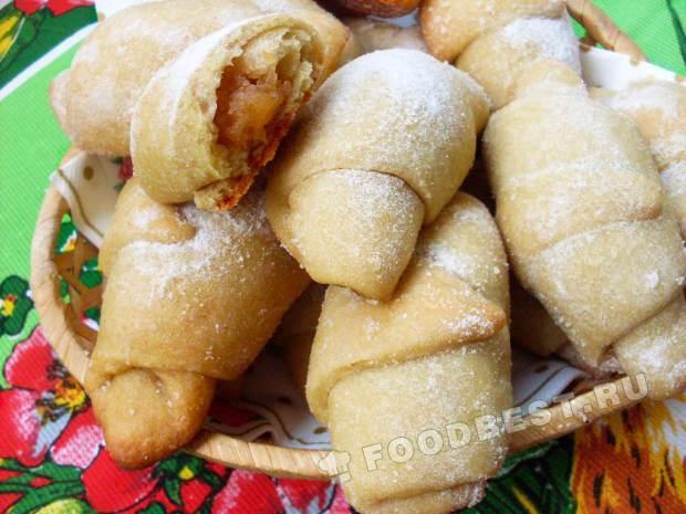 Плюшки с повидлом рецепт пошагово
