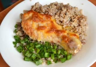 запеканка с гречкой и курицей в духовке рецепт с фото