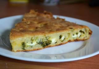 Рецепт заливного пирога с луком и яйцом