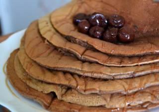 Аппетитные шоколадные панкейки