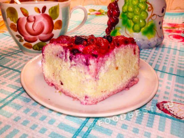 Творожная запеканка в духовке с ягодами рецепт