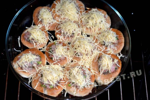 баранки с фаршем в духовке пошаговый рецепт с фото