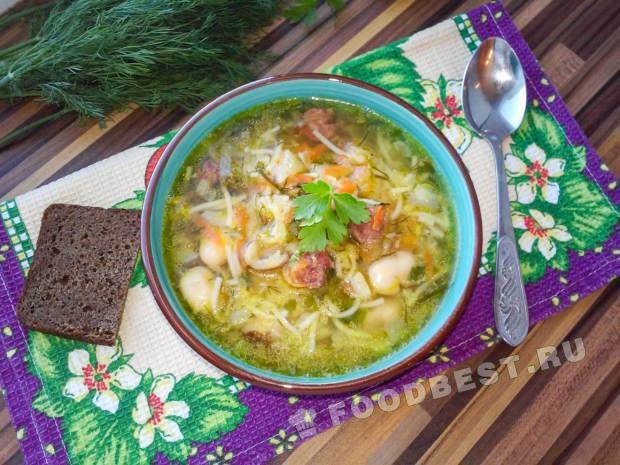 Суп с красной чечевицей и сырокопченой колбасой - рецепт пошаговый с фото