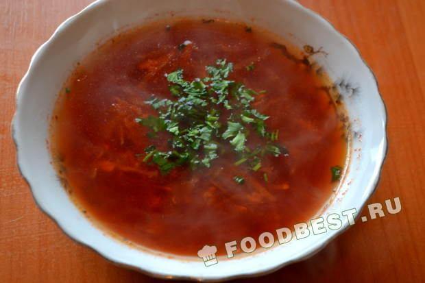 Борщ без капусты рецепт пошаговый с фото