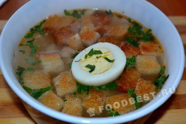 Куриный суп с яйцом пошаговый рецепт