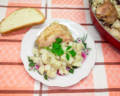 Курица с картошкой в духовке с майонезом